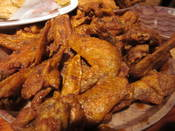 Hooter's cajun sauce naked wings.