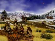 An artist's rendition of Neanderthals