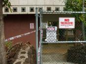 Old Wailuku Post Office taped and closed off due to Asbestos removal.