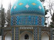 Focused picture on Attar's tomb Neyshabur