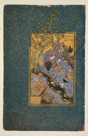 Scene from Attar's The Conference of the Birds, by Habibulla Meshedi (1600).