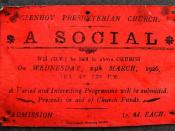 Invitation to a Social in 1926 - geograph.org.uk - 1311934