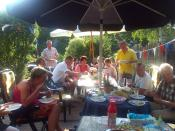 Nederlands: Typische Nederlandse familiebarbecue. (Typical Dutch family barbecue)