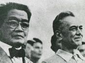 Emilio Auginaldo (left) and Manuel Quezon (right) during the 1935 campaign.