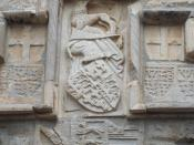 Coat-of-arms of king Henry IV of England; English tower, St. Peter's castle, Bodrum, Turkey