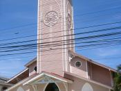 English: Iglesia San Antonio Catholic church in Tela, Atlantida, Honduras. Photo taken by myself (Ricky Ng-Adam) on March 14th, 2007.