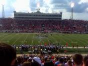 English: USA first Jaguar Football Game. Played at Ladd Peebles Stadium, Mobile, Alabama