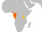 English: Gorilla (Gorilla) range map. Orange : Western Gorilla (Gorilla gorilla) Gold : Eastern Gorilla (Gorilla beringei)] Deutsch: Verbreitung der Gorillas (Gorilla). OrangeRed : Westlicher Gorilla (Gorilla gorilla) Gold : Östlicher Gorilla (Gorill