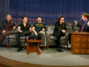 O'Brien interviewing U2, on a special episode of Late Night