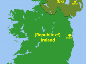 English: Political capitals of the countries Ireland and Northern Ireland
