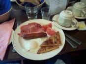 An Ulster fry, served in Belfast, Northern Ireland.