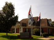 Photo of the Alpha Phi Omega National Office in Independence, Missouri, taken on August 3, 2008.