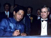 Signing of the ICAPO charter at the 1994 National Convention in Dallas/Fort Worth, Texas.