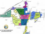 English: Map of neighborhoods in The City of North Miami Beach, Florida.