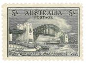 English: Postage stamp, Australia, 1932: Sydney Harbour Bridge