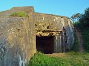 English: German Casemate at Omaha Beach (Normandy)