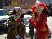 Sisters of Perpetual Indulgence hold a charity tarot card reading at Rapture Cafe on Avenue A in the East Village of New York City.