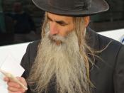Orthodox Man with Beard in Jerusalem