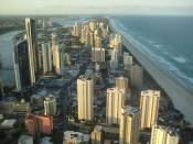 The Gold Coast in Queensland, taken from the Q1 tower.