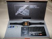 Seiko Data-2000, The First Computer Watch, Circa 1983/1984, LCD Watch with Docking Station