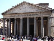Hadrian's Pantheon in Rome is an example of Roman concrete construction.
