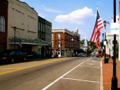 English: View facing north, from North Main Street in Greeneville, Tennessee