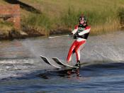 Water skiing on the Yarra River in Melbourne