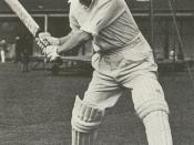 Donald Bradman, australian cricket player. photo from 30s or 40s - public domain