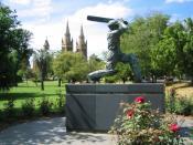 Statue of Donald Bradman outside the Adelaide Oval in Adelaide, Australia. Budgiekiller 15:05, 13 December 2006 (UTC)