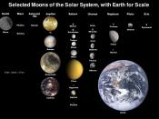English: Moons of solar system scaled to Earth's Moon