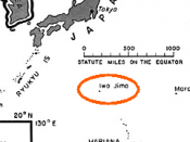 Location of Iwo Jima
