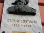 English: This is about István Türr, who is the name giver of this grammar school Magyar: Türr István emlékműve a róla elnevezett gimnázium falán.