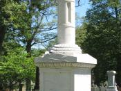English: Broken mast monument to captain killed while whaling in Sag Harbor, New York. Photo by poster in June 2007.