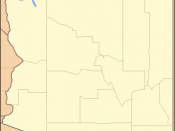 Locator Map of Arizona, United States