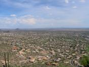 View of suburban development in Phoenix metropolitan area.