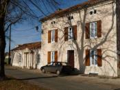 Français : école d'Hautefaye, Dordogne, France
