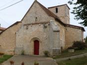 Français : église de Hautefaye, Dordogne, France