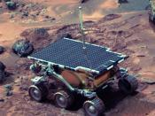 Sojourner rover on Mars on sol 22