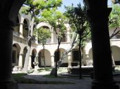 English: Patio area of the Regional Museum of Guadalajara in Guadalajara, Mexico