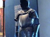 English: Spanish colonial suit of armor displayed at the Regional Museum of Guadalajara in Guadalajara, Mexico