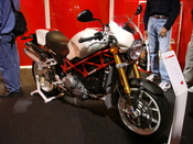 2007 SR4 Ducati SR4 Monster on display at the 2006 International Motorcycle Show in Long Beach, CA. Camera used was a Sony Cyber-shot DSC-W100.