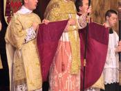 Archbishop Bernard Longley at the throne (during the Solemn High Mass of Thanksgiving for the beatification of John Henry Newman)