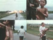 Thumbnails of the film footage showing the events just before and after the iconic photograph was taken. (ITN)