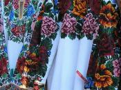 Hutsul wedding dress, bead embroidery