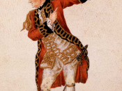 David Garrick as Benedick in Much Ado About Nothing, 1770.