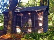 English: Cabin at Steepletop, Austerlitz, NY, USA, the home of poet Edna St. Vincent Millay in the later years of her life. Used by Millay as a writing studio