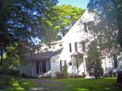 English: Main house at Steepletop Farm, home of Edna St. Vincent Millay
