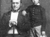 English: Henry James, Sr. and Henry James, Jr. in New York City.