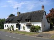 English: John Clare's birthplace, Helpston, Peterborough. The poet Clare was born in the thatched cottage situated in Woodgate in 1793 and lived there during his period of literary success in the 1820s. The cottage was bought by the John Clare Education &