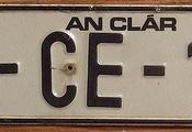 IRELAND, COUNTY CLARE 1993 ---LICENSE PLATE